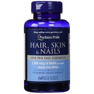 Puritan's Pride Hair, Skin & Nails One Per Day Formula / 60 Softgels