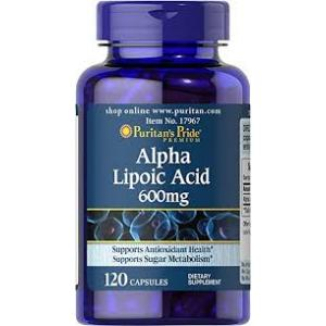 Puritan's Pride Alpha Lipoic Acid 600 mg / 120 Softgels