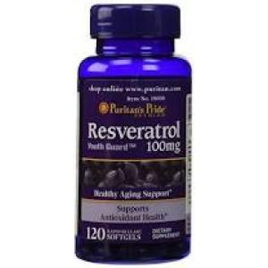 Puritan's Pride Resveratrol 100 mg / 120 Softgels
