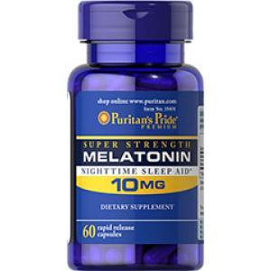 ลด 25 % PURITAN'S PRIDE :: MELATONIN 10 mg - 60 Capsules เมลาโทนิน ผ่อนคลาย แก้ปัญหา นอนไม่หลับ