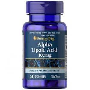 Puritan's Pride Alpha Lipoic Acid 100 mg / 60 Capsules