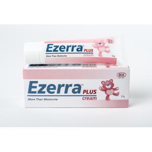 Ezerra Plus Cream 50 G หลอดใหญ่สุด BIG SIZE สำหรับผื่นแพ้ที่มีอาการอักเสบ มีรอยแดงตามผิวหนัง แห้งคัน เป็นขุยลอก เนื้อครีมเข้มข้นแต่อ่อนโยนช่วยลดอาการคันและรักษาอาการติดสเตียรอยด์ เด็กและผู้ใหญ่ใช้ได้ และกระตุ้นภูมิให้แข็งแรง ป้องกันการอักเสบได้