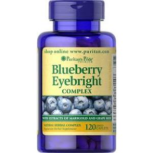 Puritan's Pride Blueberry Eyebright Complex /120 Caplets
