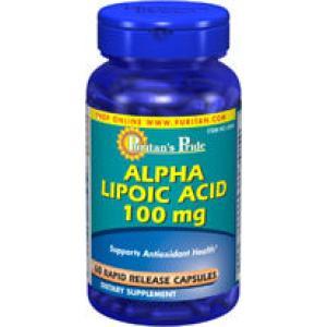 SALE 20% OFF :: PURITAN'S PRIDE :: Alpha Lipoic Acid 100 mg - 60 Capsules อัลฟาไลโปอิค 100 mg ต่อต้านอนุมูลอิสระ ช่วยตับทำงาน ดูแลผิวพรรณ