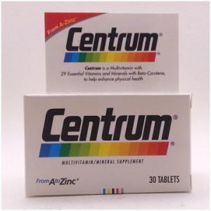 Centrum Multi Vitamins วิตามินรวม ขนาด 30 แคปซูล