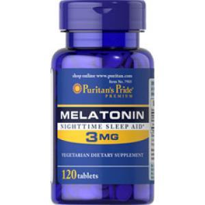ลด 35 % PURITAN'S PRIDE :: MELATONIN 3 mg เมลาโทนิน ผ่อนคลาย แก้ปัญหา นอนไม่หลับ ต่อต้านอนุมูลอิสระ เลือกขนาดด้านใน