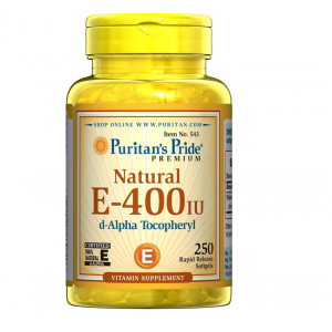 Puritan's Pride Vitamin E-400 iu 100% Natural / 250 Softgels