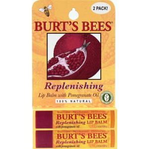 BURT'S BEES :: Burt's bee Replenishing Lip Balm with Pomegranate Oil - 2 pack เรียบเนียน ชุ่มชื้น ดูสุขภาพดีด้วย ทับทิม