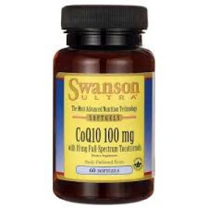 Swanson Ultra CoQ10 100 mg with 10 mg Tocotrienols 100/10 mg - 60 Sgels