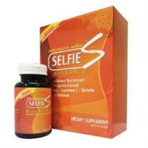 Selfie S เซลฟี่ เอส ผลิตภัณฑ์ลดน้ำหนัก ช่วยบล๊อคไขมัน เบิร์นไขมันเก่า และคงระดับการเผาผลาญ แถมยังช่วยให้ผิวดีขึ้นแบบผอมได้ไม่โทรม