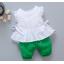 **ชุดเซ็ตกางเกงโจงกระเบนสีเขียวเสื้อแขนกุดขาว | เขียว | M-L-XL-2XL | 4ชุด/แพ๊ค | เฉลี่ย 170/ชุด thumbnail 1