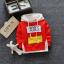 **เสื้อแขนยาว Baby Guru มีหมวก สีแดง size= s-xl | 4ตัว/แพ๊ค | เฉลี่ย 200/ตัว thumbnail 1