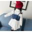 **เดรสเสื้อขาวแขนยาวเอี๊ยมยีนต์ ตามารูป size : 7-9-11-13-15 | 5ชุด/แพ๊ค | เฉลี่ย 300/ชุด thumbnail 2