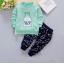 **ชุดเซ็ตขวดนมMinkเสื้อเขียว กางเกงขายาว size = 100-110-120 | 3ชุด/แพ๊ค | เฉลี่ย 150/ชุด thumbnail 1