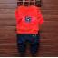 **ชุดเซ็ตPigสีแดง กางเกงขายาว size = 100-110-120 | 3ชุด/แพ๊ค | เฉลี่ย 150/ชุด thumbnail 1