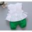 **ชุดเซ็ตกางเกงโจงกระเบนสีเขียวเสื้อแขนกุดขาว | เขียว | M-L-XL-2XL | 4ชุด/แพ๊ค | เฉลี่ย 170/ชุด thumbnail 2