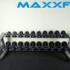 ชุดดัมเบล MAXXFiT ทรงกลม ขนาด 2.5 - 25 KG. (10 คู่) พร้อมชั้นวาง 2 ชั้น 10 คู่ สีเทา