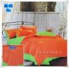 ผ้าปูที่นอนสีพื้น เกรด A สีส้มสด ขนาด 6 ฟุต 5 ชิ้น
