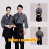 F6103011 ชุดผ้าฝ้ายซูชิกิโมโนสไตร์ญี่ปุ่น สำหรับห้องอาหารญี่ปุ่นเกาหลี เสื้อพนักงานต้อนรับ