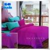 ผ้าปูที่นอนสีพื้น เกรด A สีม่วงสด ขนาด 6 ฟุต 5 ชิ้น