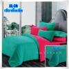 ผ้าปูที่นอนสีพื้น เกรด A สีเขียวมิ้นเข้ม ขนาด 6 ฟุต 5 ชิ้น