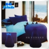 ผ้าปูที่นอนสีพื้น เกรด A สีน้ำเงินเข้ม ขนาด 6 ฟุต 5 ชิ้น