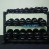 ชุดดัมเบล MAXXFiT ทรง 12 เหลี่ยม ขนาด 2.5 - 25 KG. (10 คู่) พร้อมชั้นวาง 3 ชั้น สีดำ