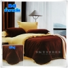 ผ้าปูที่นอนสีพื้น เกรด A สีน้ำตาลเข้ม ขนาด 6 ฟุต 5 ชิ้น