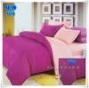 ผ้าปูที่นอนสีพื้น เกรด A สีม่วง ขนาด 3.5 ฟุต 3 ชิ้น