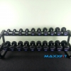 ชุดดัมเบล MAXXFiT ทรง 12 เหลี่ยม ขนาด 2.5 - 25 KG. (10 คู่) พร้อมชั้นวาง 2 ชั้น 10 คู่ สีดำ RK 1304