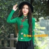 UM6102021 เสื้อยืดแขนยาวโมฮีเมียน เย็บปักถักร้อยชาติพันธุ์