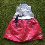 Hanbok Girl ฮันบกผ้าไหมสำหรับเด็ก 1 ขวบ