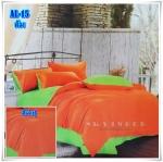 ผ้าปูที่นอนสีพื้น เกรด A สีส้มสด ขนาด 3.5 ฟุต 3 ชิ้น