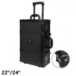 กระเป๋าเดินทางวินเทจ หนังPU สีดำ รุ่น classic แบบ 2 ล้อลาก