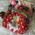 กระเป๋าปิ๊กแป๊ก 10.5cm. สีแดง