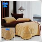 ผ้าปูที่นอนสีพื้น เกรด A สีครีม ขนาด 6 ฟุต 5 ชิ้น