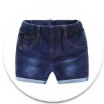 **กางเกงยีนต์น้ำเงินขาสั้นกระเป๋าหลัง size= 90-130 | 5ตัว/แพ๊ค | เฉลี่ย 150/ตัว