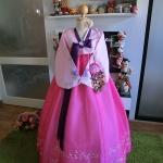 """Hanbok สีชมพูหวาน XS อก33"""" สูง 150-155"""