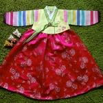 Hanbok Girl ฮันบกผ้าไหมสีสดใส สำหรับเด็ก 6 ขวบ