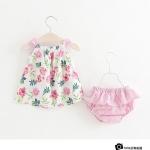 **เดรสสายเดี่ยวสีชมพูรูปดอกไม้พร้อมกางเกง ตามรูป size= 7-9-11-13 (4pcs/pack) | 4ตัว/แพ๊ค | เฉลี่ย 180/ตัว | 720/Pack | Link : www.kidshomeshop.com/p/