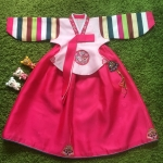 Hanbok Girl ฮันบกชาววังสีชมพู สำหรับเด็ก 4 ขวบ