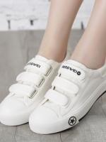 TW6002009 รองเท้าผ้าใบสีขาวนักเรียนหญิงลำลองไร้สายเกาหลี (พรี) รอ 3 อาทิตย์