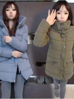 CW5710002 เสื้อโค้ทแฟชั่นสาวเกาหลี มีฮูด แขนยาว (พร้อมส่ง)