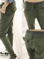 LW5708001 กางเกงยีนส์ big size เอวยางยืด เวอร์ชั่นสาวเกาหลี (พรีออเดอร์)