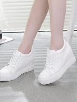 TW6002003 รองเท้าผ้าใบผู้หญิงสีขาวดำส้นหนาเกาหลี(พรี) รอ 3 อาทิตย์