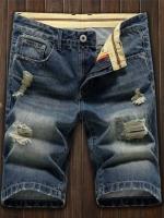 AM5909005 กางเกงยีนส์ชายขาสั้น แฟชั่นเกาหลี (พรีออเดอร์) รอ 3 อาทิตย์หลังชำระเงิน