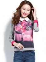 GW5712013 เสื้อเชิ้ตเสื้อยืด คอโปโล ผู้หญิง วินเทจเกาหลี(พรีออเดอร์)รอสินค้า 3อาทิตย์หลังโอนเงิน