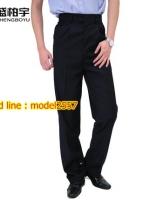 K6105001 กางเกงผู้ชายพนักงานโรงแรมสีดำ