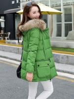 CW6010001 เสื้อโค้ทผ้าฝ้ายโพลีเอสเตอร์แต่งเฟอร์ขนอบอุ่นมากสไตร์เกาหลี (พรีออเดอร์) รอ 3 อาทิตย์หลังโอนเงิน
