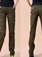 HW5906001 กางเกงขายาวทหารหญิงสีเขียวกองทัพทหาร แฟชั่นเกาหลี (พรีออเดอร์) รอ 3 อาทิตย์หลังโอนเงิน